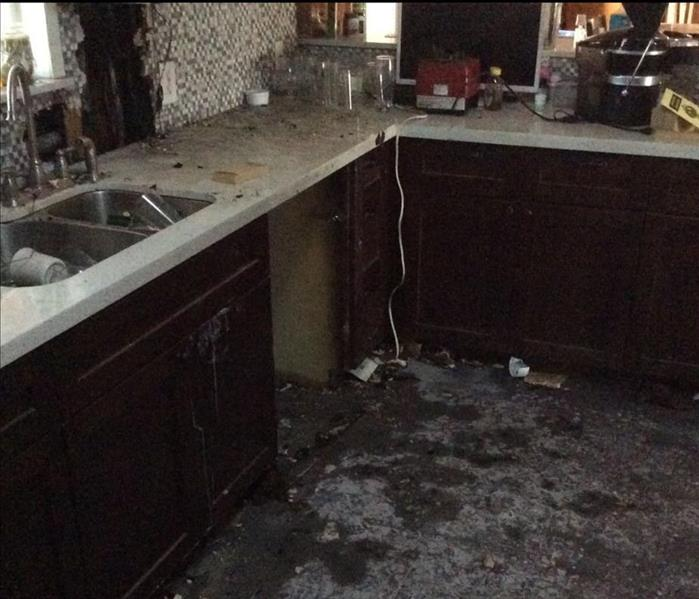 Appliance Fire in Austin Texas clean up by SERVPRO Before