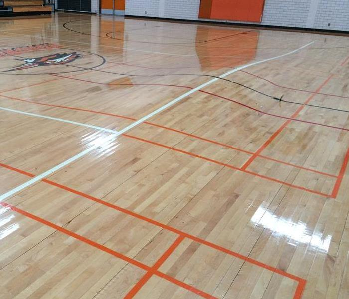 Gym Floor Buckling up from Water Damage